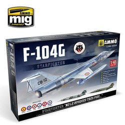 F-104G Starfighter - Spanish, Canadian, Italian, Greek, Norwegian, Turkish Versions - Scale 1/48  - Ammo by Mig Jimenez - A.MIG-8504