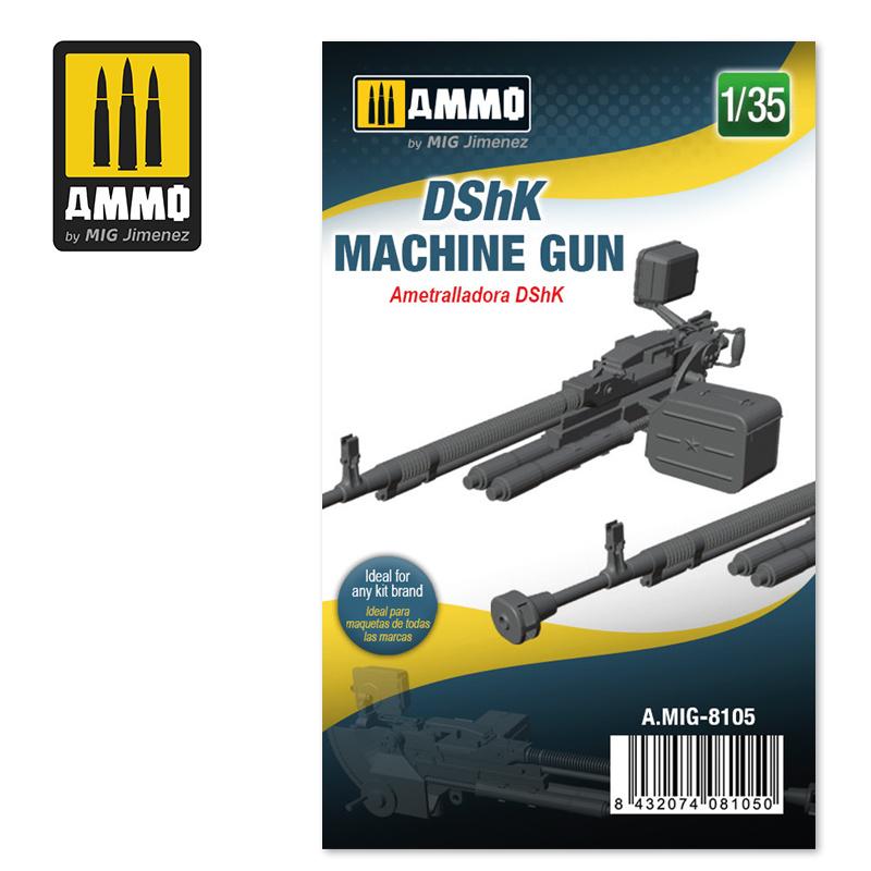 Ammo by Mig Jimenez DShK Machine Gun - Scale 1/35 - Ammo by Mig Jimenez - A.MIG-8105
