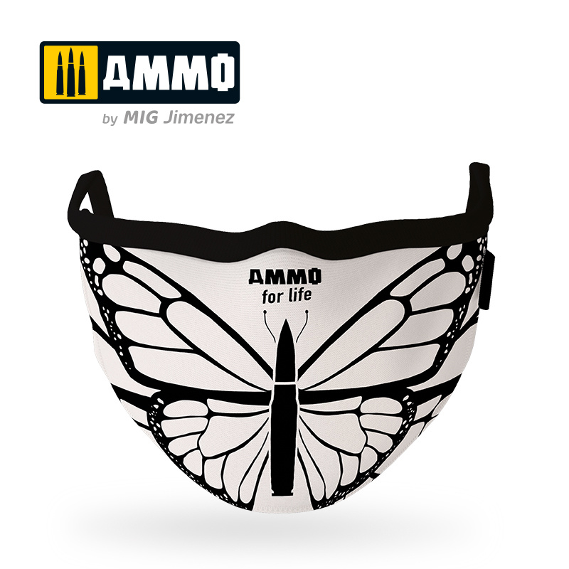 Ammo by Mig Jimenez Ammo For Life Butterfly Face Mask (Hygienic Protective Mask 100% Polyester) - Ammo by Mig Jimenez - A.MIG-8074