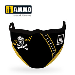 """Ammo Face Mask """"Jolly Rogers """" (Hygienic Protective Mask 100% Polyester) - Ammo by Mig Jimenez - A.MIG-8070"""