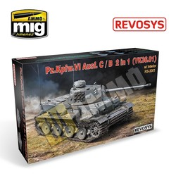 Pz.Kpfw.VI Ausf C/ B(Vk36.01) 2 In 1 With Interior - Scale 1/35 - Revosys - RS3001