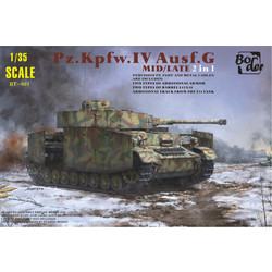 Pz.Kpfw. Iv Ausf. G Mid/Late - 2 In 1 - Scale 1/35 - Border Models - BT001