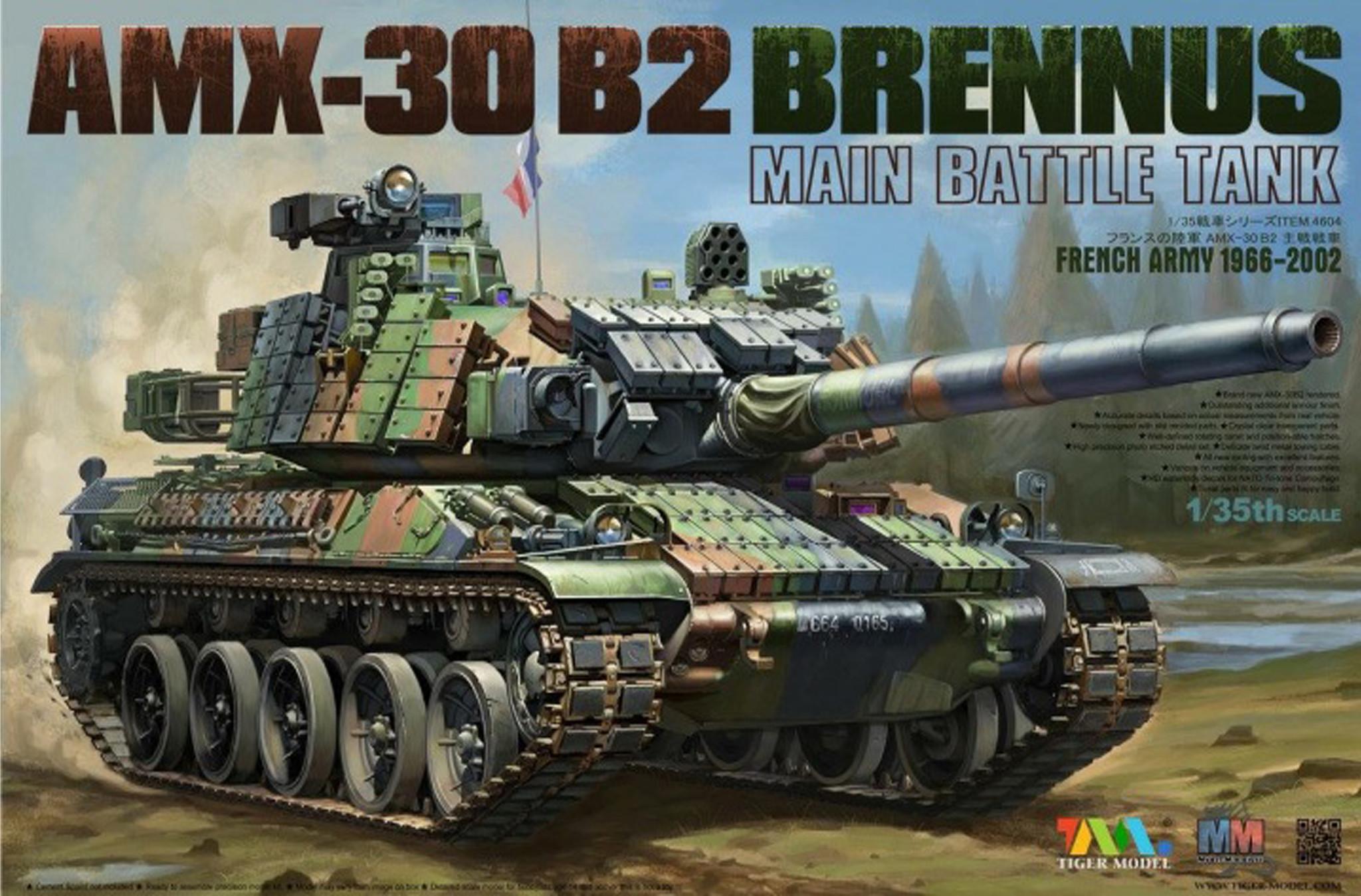 Tiger Model Amx-30B2 Brennus - Tiger Model - Scale 1/35 - TIGE4604