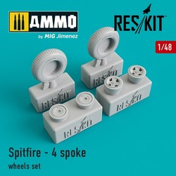 Spitfire - 4 spoke wheels set - Scale 1/48 - Reskit - RS48-0103