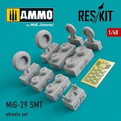 MiG-29 SMT wheels set - Scale 1/48 - Reskit - RS48-0090