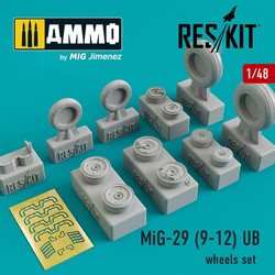 MiG-29 (9-12) UB  wheels set - Scale 1/48 - Reskit - RS48-0088