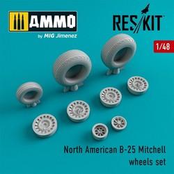 B-25 Mitchell wheels set - Scale 1/48 - Reskit - RS48-0087