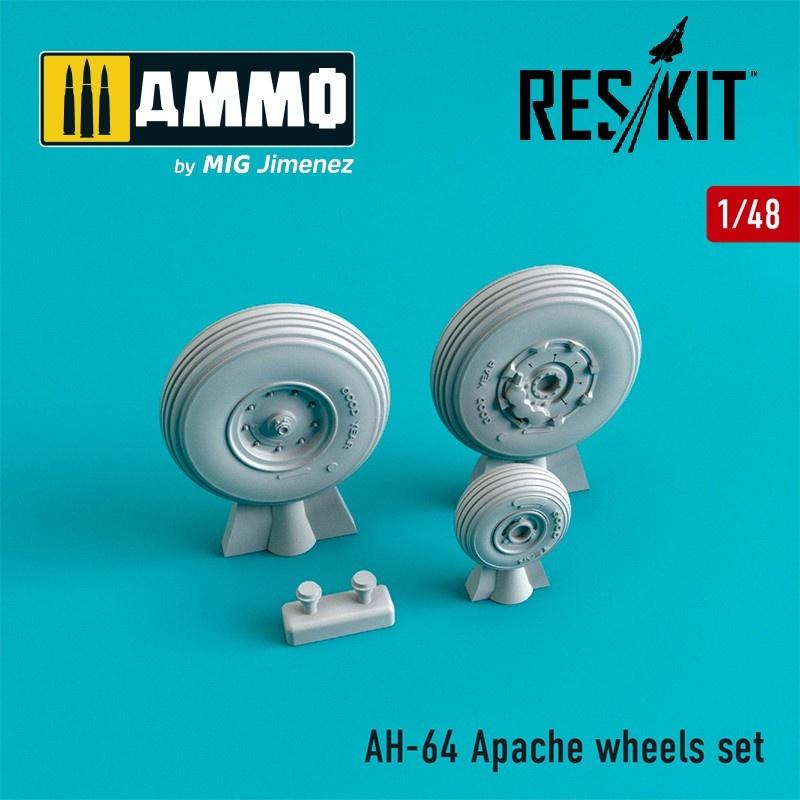 Reskit AH-64 Apache wheels set Type 1 - Scale 1/48 - Reskit - RS48-0081