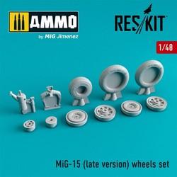MiG-15 (late version) wheels set - Scale 1/48 - Reskit - RS48-0080
