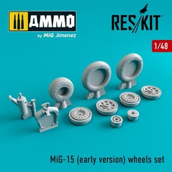 MiG-15 (early version) wheels set - Scale 1/48 - Reskit - RS48-0079