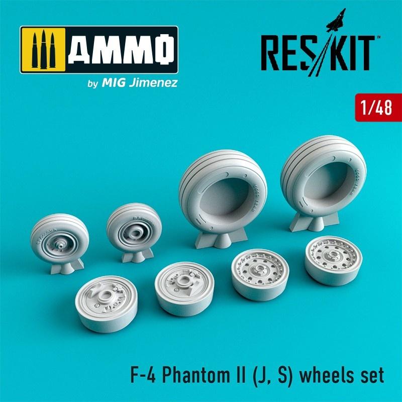 Reskit F-4 Phantom II (J, S) wheels set - Scale 1/48 - Reskit - RS48-0066