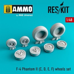 F-4 Phantom II (C, D, E, F) wheels set - Scale 1/48 - Reskit - RS48-0065