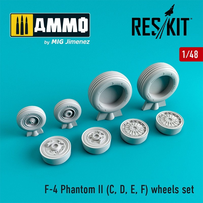 Reskit F-4 Phantom II (C, D, E, F) wheels set - Scale 1/48 - Reskit - RS48-0065