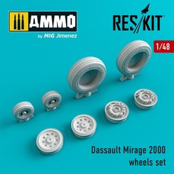 Dassault Mirage 2000 wheels set  - Scale 1/48 - Reskit - RS48-0034
