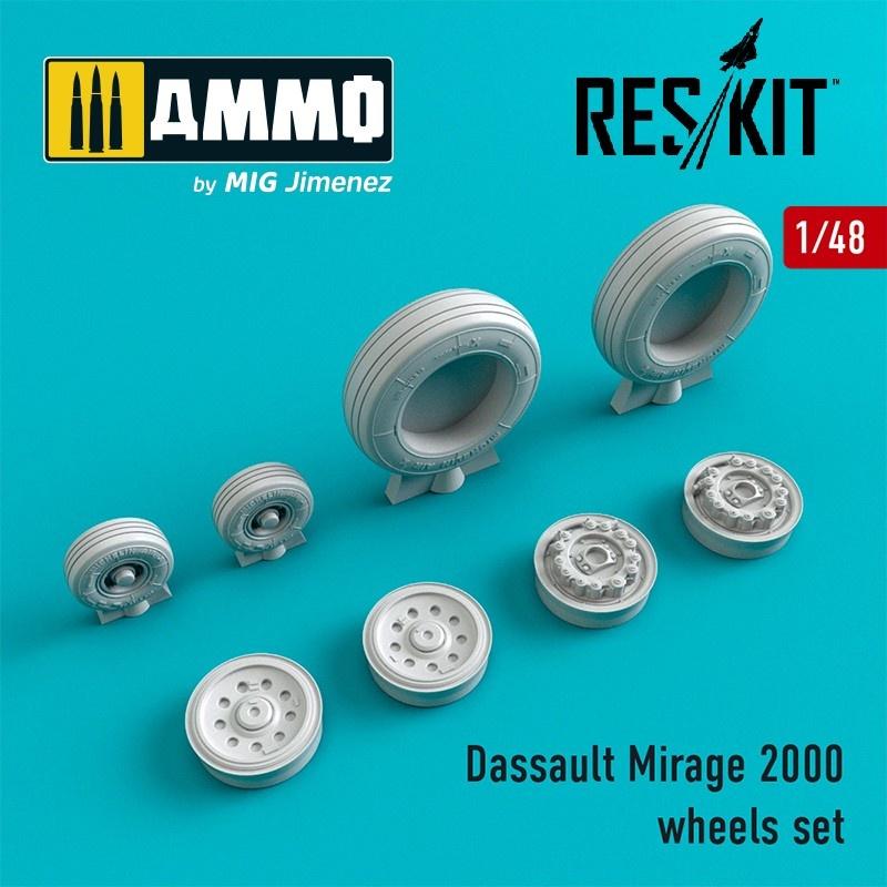 Reskit Dassault Mirage 2000 wheels set  - Scale 1/48 - Reskit - RS48-0034