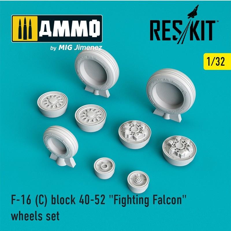"Reskit F-16 (C) block 40-52 ""Fighting Falcon"" wheels set  - Scale 1/32 - Reskit - RS32-0025"