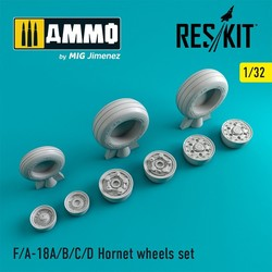 F-18 Hornet wheels set - Scale 1/32 - Reskit - RS32-0125