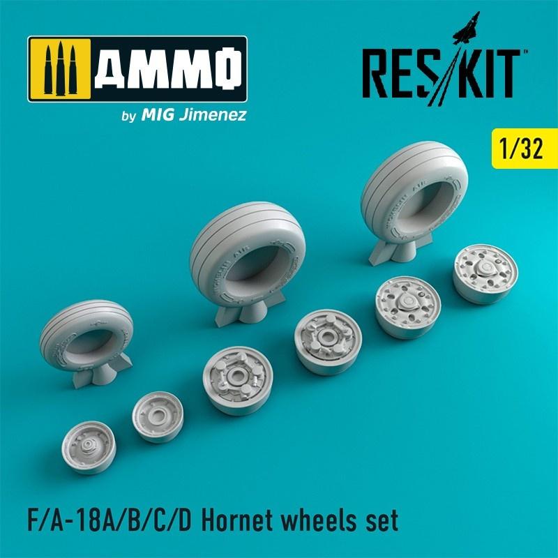 Reskit F-18 Hornet wheels set - Scale 1/32 - Reskit - RS32-0125
