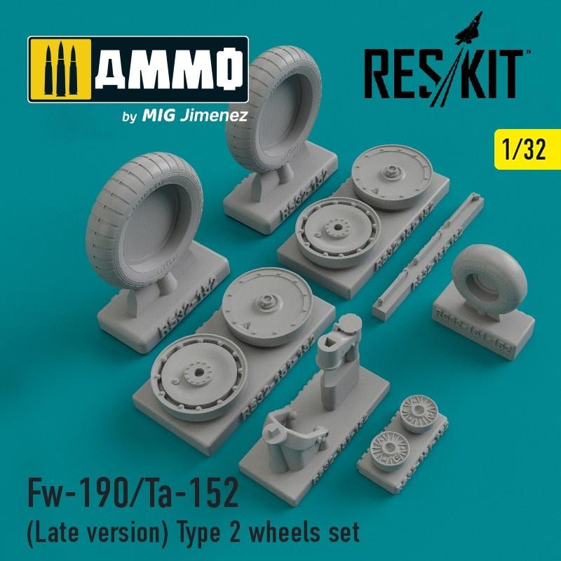Reskit Fw-190/Ta-152 (Late version) Type 2 wheels set - Scale 1/32 - Reskit - RS32-0152