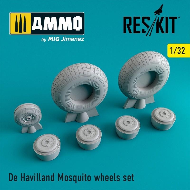 Reskit De Havilland Mosquito wheels set - Scale 1/32 - Reskit - RS32-0240