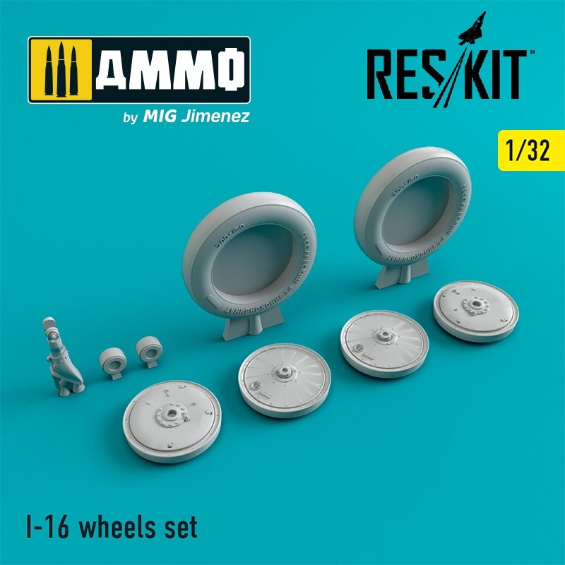 Reskit I-16 wheels set - Scale 1/32 - Reskit - RS32-0241