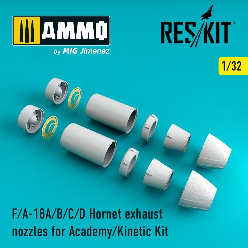Reskit F-18 Hornet exhaust nozzles - Scale 1/32 - Reskit - RSU32-0001
