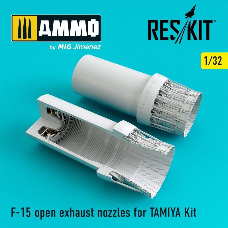 Reskit F-15 open exhaust nozzles - Scale 1/32 - Reskit - RSU32-029