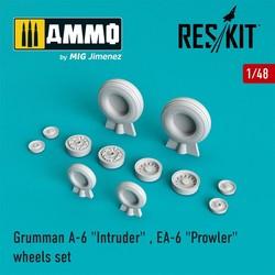 "A-6 ""Intruder"" , EA-6 ""Prowler"" wheels set  - Scale 1/48 - Reskit - RS48-0001"