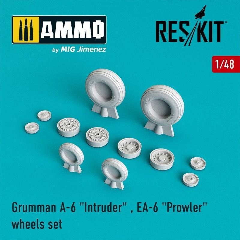 "Reskit A-6 ""Intruder"" , EA-6 ""Prowler"" wheels set  - Scale 1/48 - Reskit - RS48-0001"