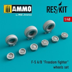 """F-5 A/B """"Freedom fighter"""" wheels set   - Scale 1/48 - Reskit - RS48-0004"""