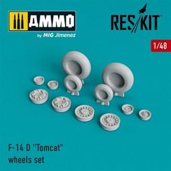 "F-14 D ""Tomcat"" wheels set  - Scale 1/48 - Reskit - RS48-0007"