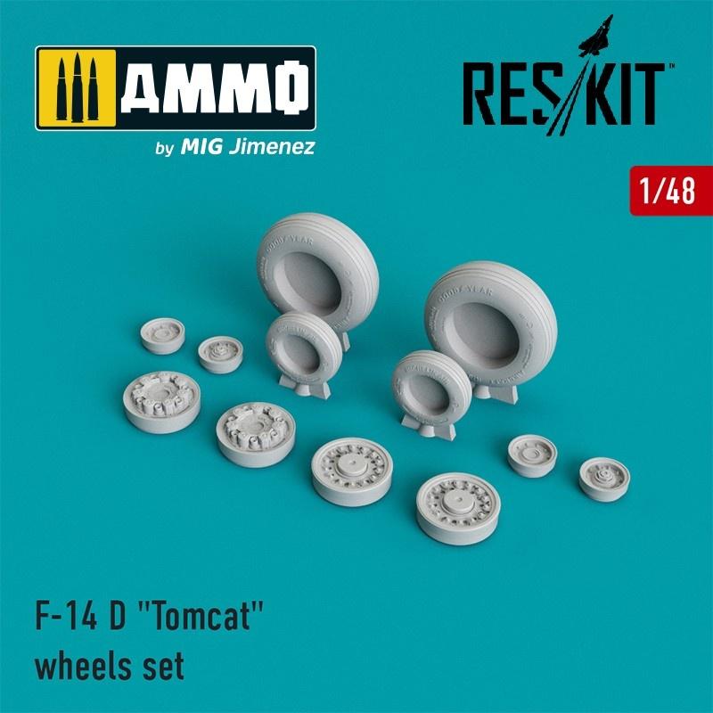 "Reskit F-14 D ""Tomcat"" wheels set  - Scale 1/48 - Reskit - RS48-0007"