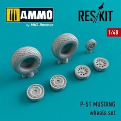 P-51 MUSTANG wheels set - Scale 1/48 - Reskit - RS48-0012