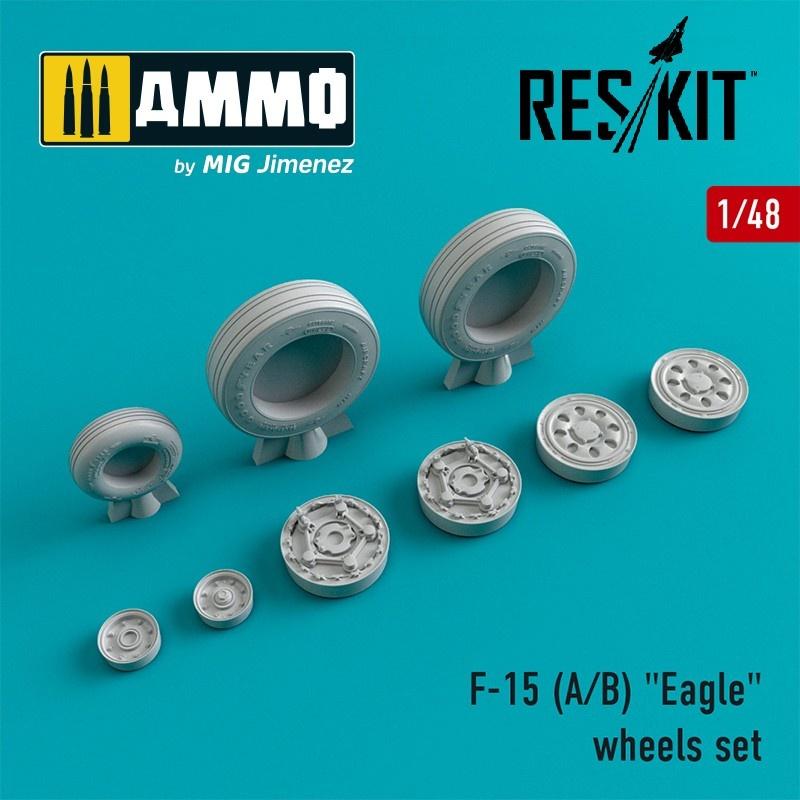 "Reskit F-15 (E/I/K) ""Strike Eagle"" wheels set  - Scale 1/48 - Reskit - RS48-0021"