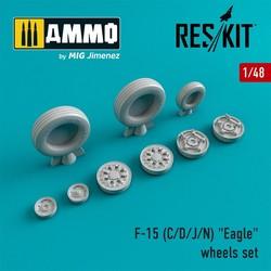 "F-15 (C/D/J/N) ""Eagle"" wheels set  - Scale 1/48 - Reskit - RS48-0022"