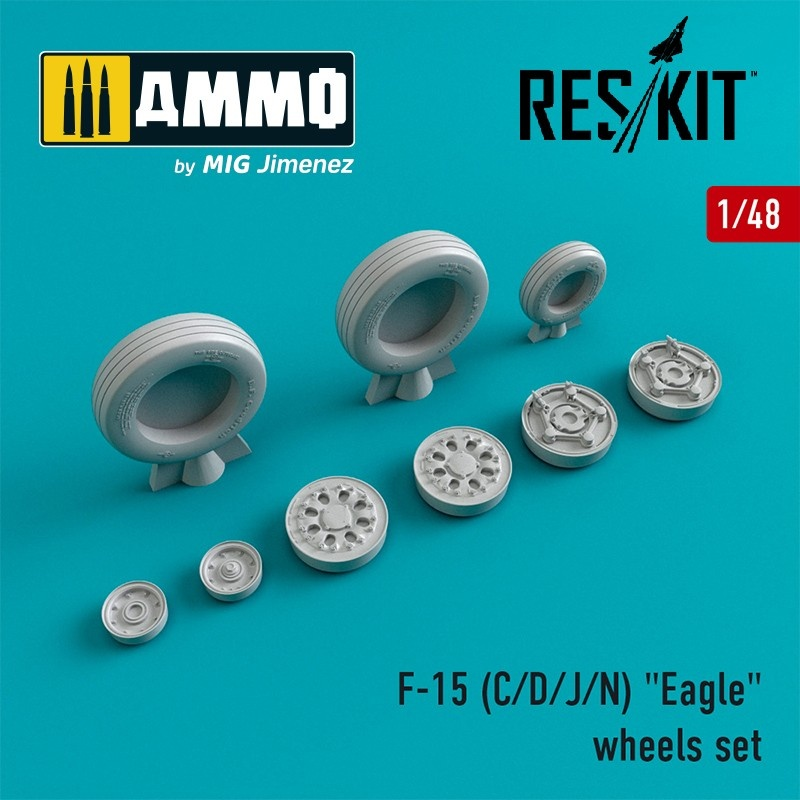 "Reskit F-15 (C/D/J/N) ""Eagle"" wheels set  - Scale 1/48 - Reskit - RS48-0022"