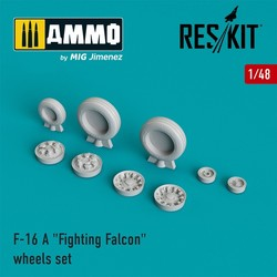 """F-16 A """"Fighting Falcon"""" wheels set  - Scale 1/48 - Reskit - RS48-0023"""