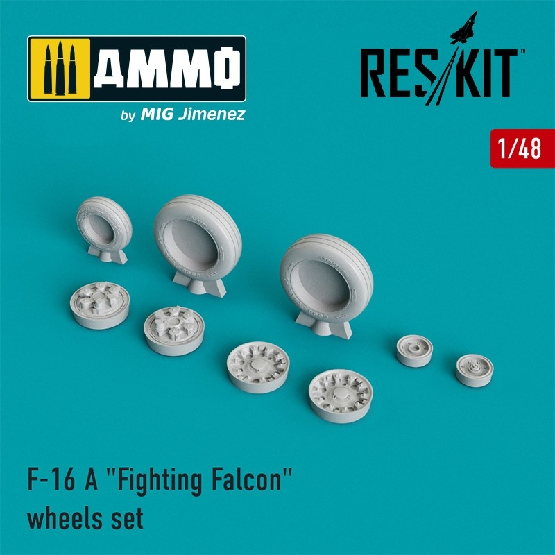"Reskit F-16 A ""Fighting Falcon"" wheels set  - Scale 1/48 - Reskit - RS48-0023"