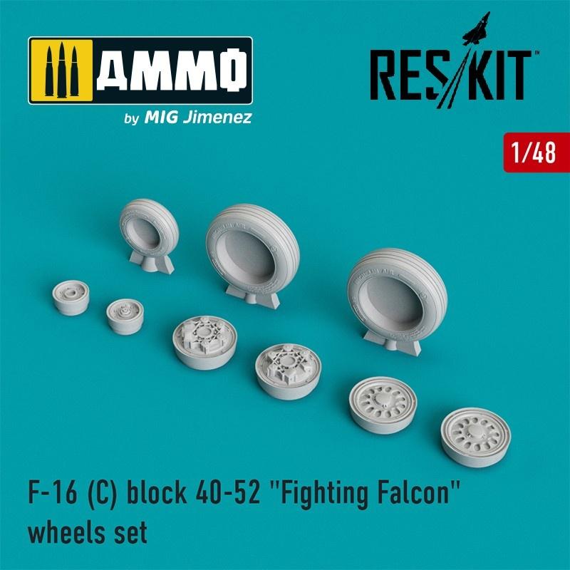"Reskit F-16 (C) block 40-52 ""Fighting Falcon"" wheels set  - Scale 1/48 - Reskit - RS48-0025"