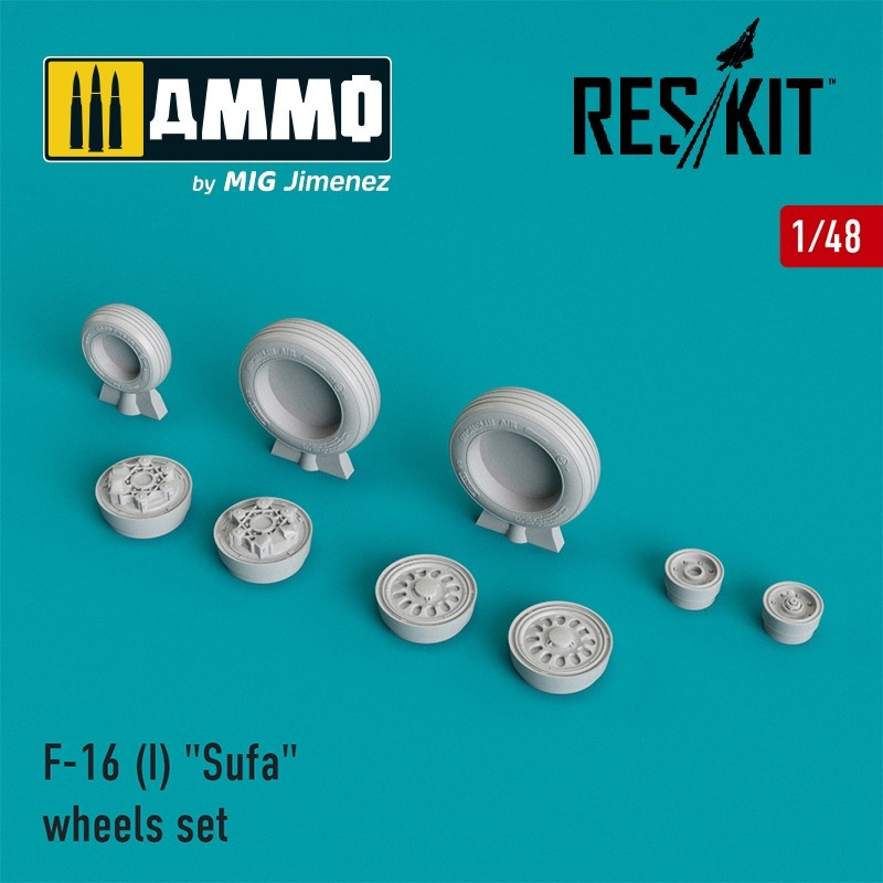 "Reskit F-16 (I) ""Sufa"" wheels set  - Scale 1/48 - Reskit - RS48-0026"