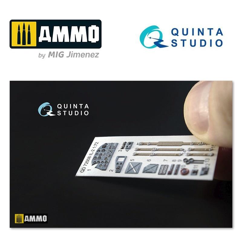 Quinta Studio IL-2 Shturmovik 3D-Printed & coloured Interior on decal paper - Scale 1/72 - Quinta Studio - QD72008
