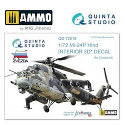 Mi-24P 3D-Printed & coloured Interior on decal paper - Scale 1/72 - Quinta Studio - QD72018