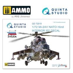 Mi-24V NATO (black panels) 3D-Printed & coloured Interior on decal paper - Scale 1/72 - Quinta Studio - QD72019