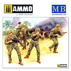 Bloody Atoll series. Kit No 2, US Marine Corps Infantry, Tarawa, November 1943 - Scale 1/35 - Master Box Ltd - MBLTD3543