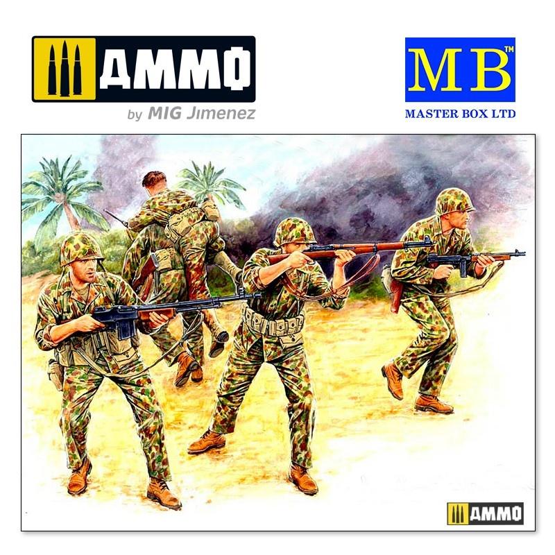 Master Box Ltd Bloody Atoll series. Kit No 2, US Marine Corps Infantry, Tarawa, November 1943 - Scale 1/35 - Master Box Ltd - MBLTD3543