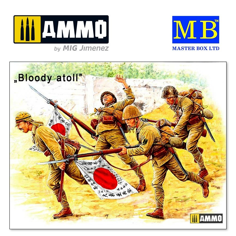 Master Box Ltd Bloody Atoll series. Kit No 1, Japanese Imperial Marines, Tarawa, November 1943 - Scale 1/35 - Master Box Ltd - MBLTD3542