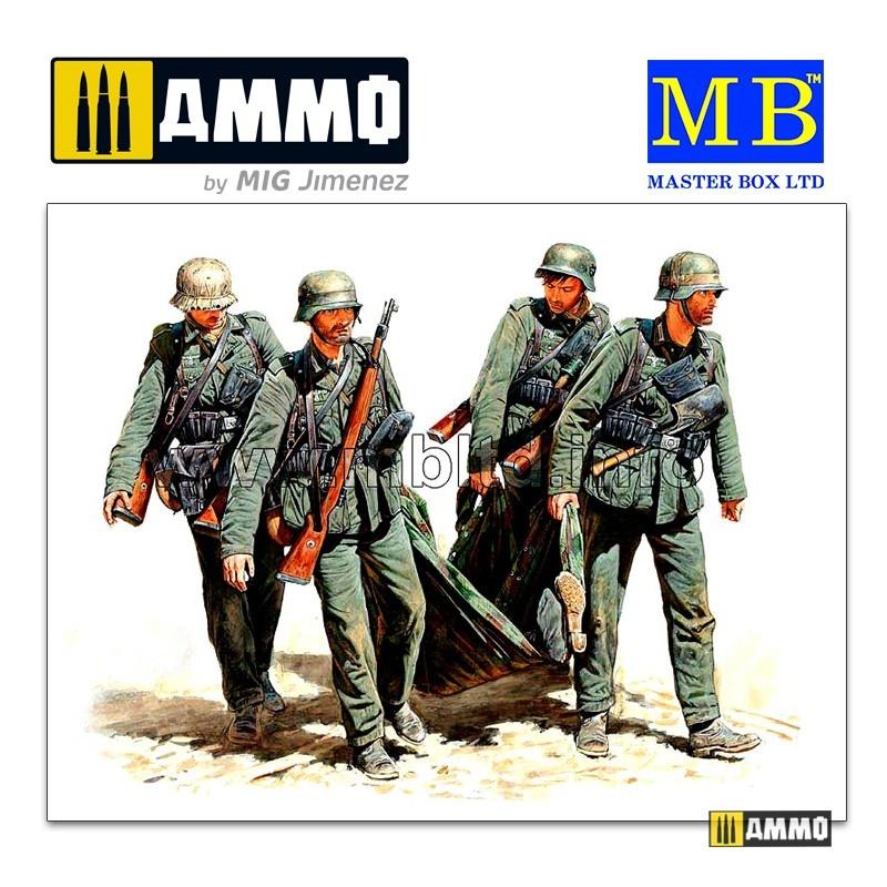 Master Box Ltd Casualty Evacuation, German Infantry, Stalingrad, Summer 1942 - Scale 1/35 - Master Box Ltd - MBLTD3541