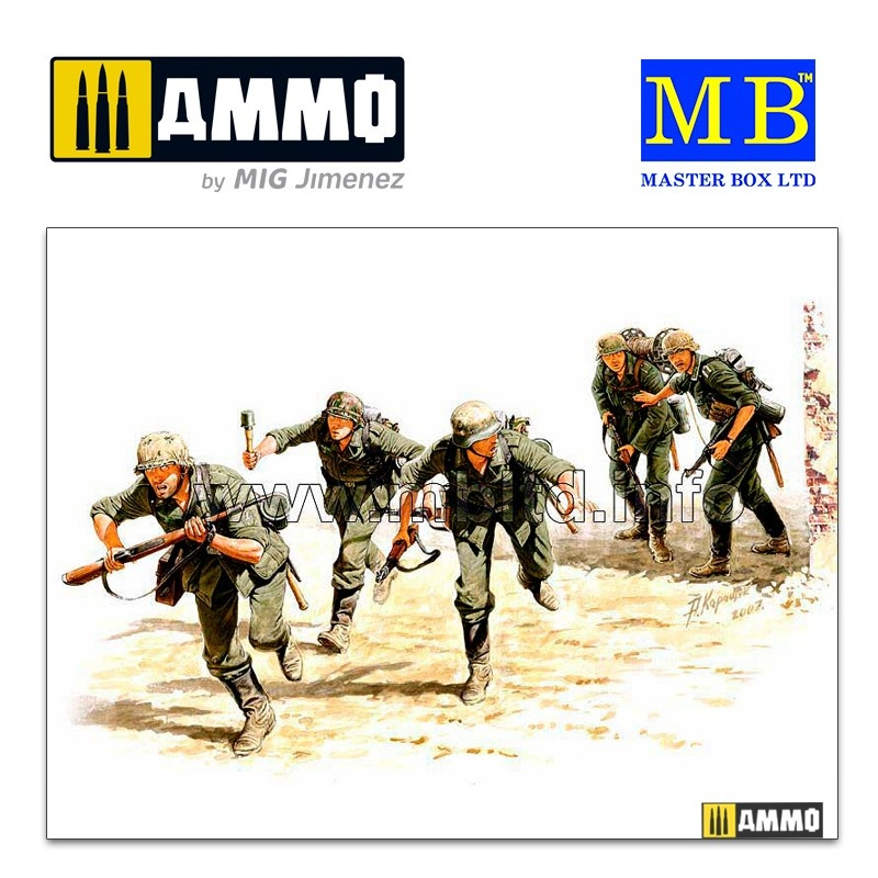 Master Box Ltd German Signals Personnel, Stalingrad, 1942 - Scale 1/35 - Master Box Ltd - MBLTD3540