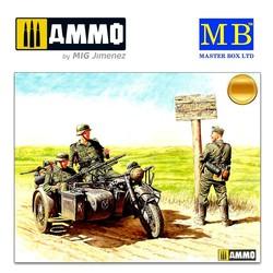 German motorcyclists, 1940-1943 - Scale 1/35 - Master Box Ltd - MBLTD3539