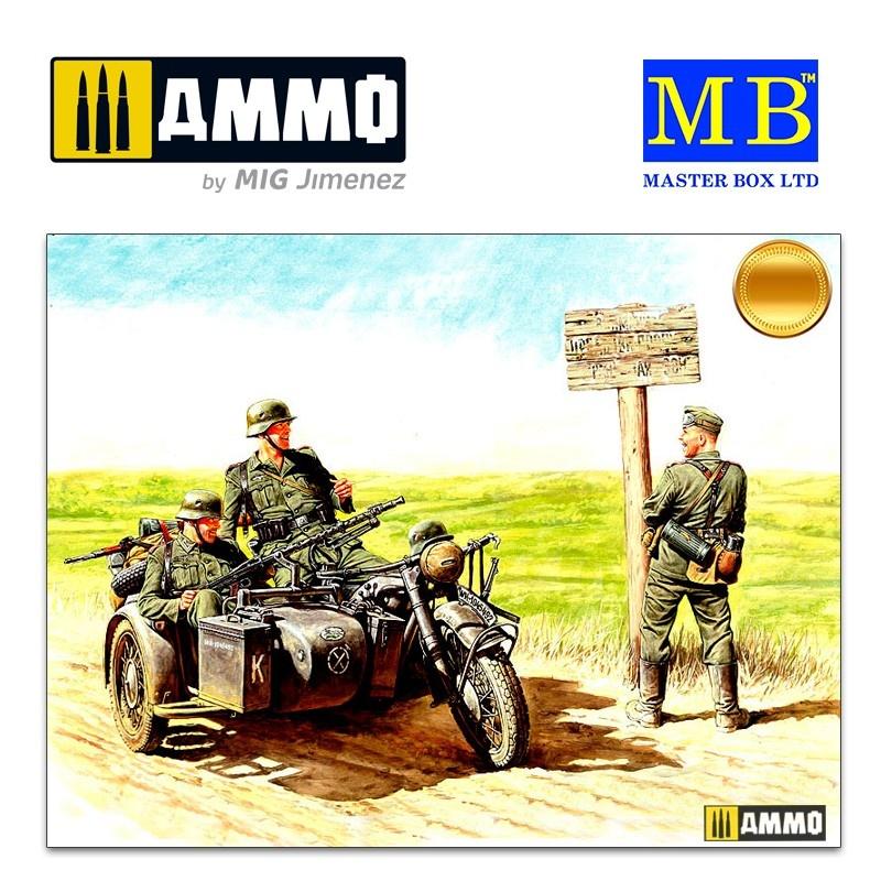 Master Box Ltd German motorcyclists, 1940-1943 - Scale 1/35 - Master Box Ltd - MBLTD3539